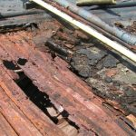 Damaged Metal Deck on Flat Commercial Roof