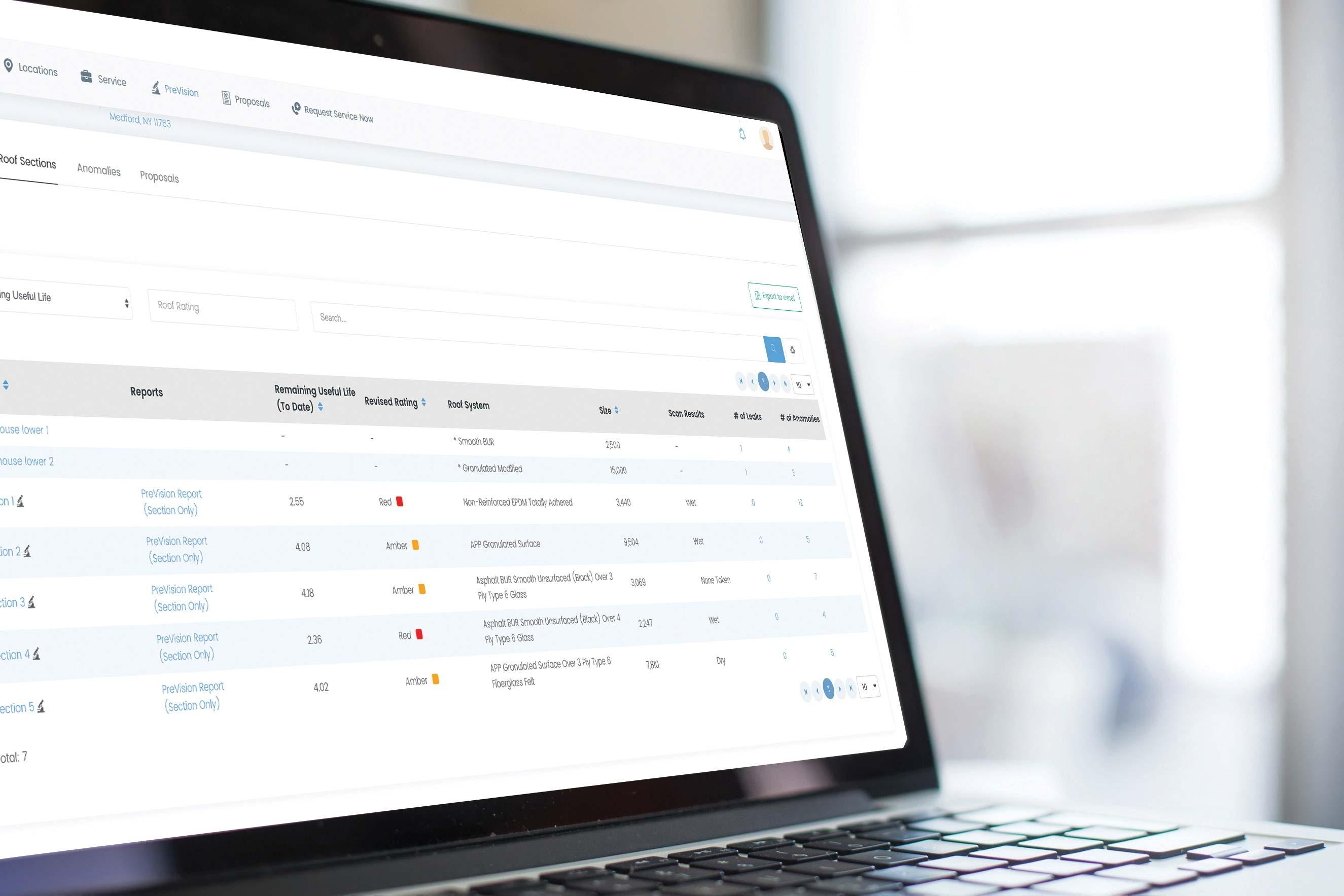 Simon Roofing Customer Portal on Laptop