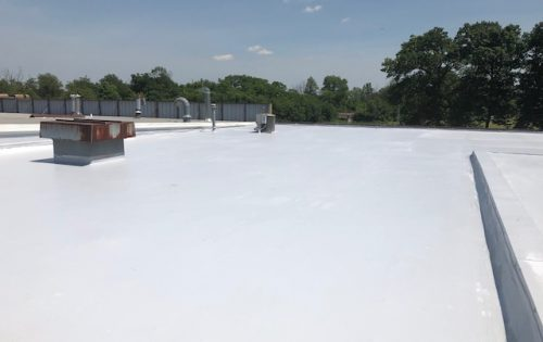 Flat white roof Columbus ohio